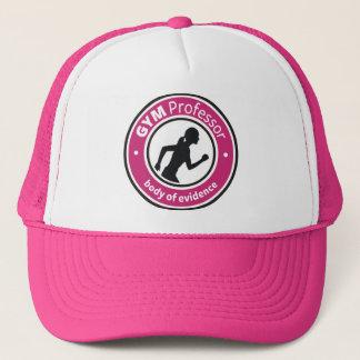 """Dam hatt för idrottshallprofessor"""" (shock rosa) truckerkeps"""