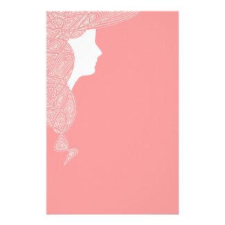 Dam i rosor brevpapper