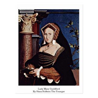 Dam Mary Guildford av Hans Holbein det mer ung Vykort
