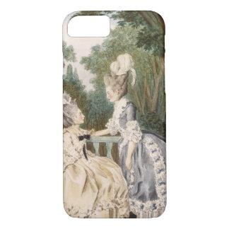 Dam morgonklänning, 1771 (färggravyr)