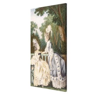 Dam morgonklänning, 1771 (färggravyr) canvastryck