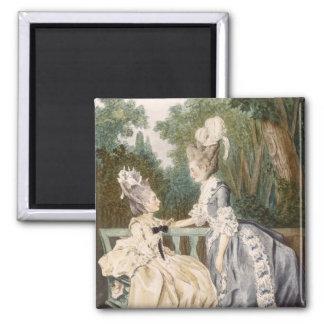 Dam morgonklänning, 1771 (färggravyr) magnet