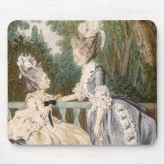 Dam morgonklänning, 1771 (färggravyr) musmatta
