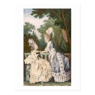 Dam morgonklänning, 1771 (färggravyr) vykort
