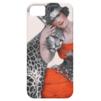 Dam och Leopard Barely There iPhone 5 Fodral