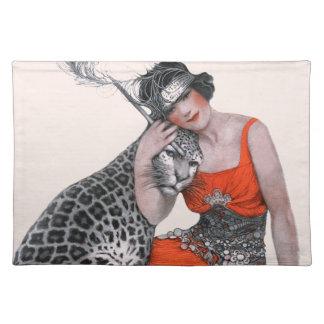 Dam och Leopard Bordstablett