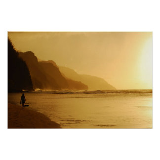 Dam på stranden - Kauai, Hawaii Poster