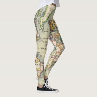 Damasker för äventyr för karta för leggings