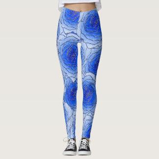Damasker för blåttrodesign leggings