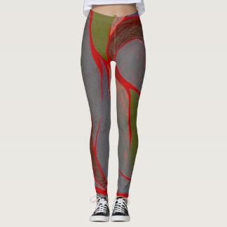 Damasker för färgvridning (jordnäraa inslag) leggings