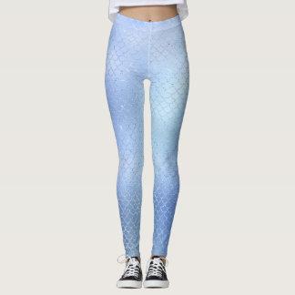 Damasker för mönster för blåttsjöjungfrufjäll leggings
