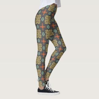 Damasker för nedgångfärgmönster leggings