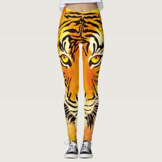 Damasker för tigervattenfärgtryck leggings