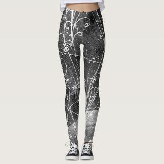 Damasker för vintagepartikelfysik leggings