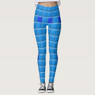 Damasker - mosaisk blått belägger med tegel leggings