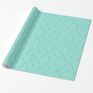 Damast för Aquahavsblått Presentpapper