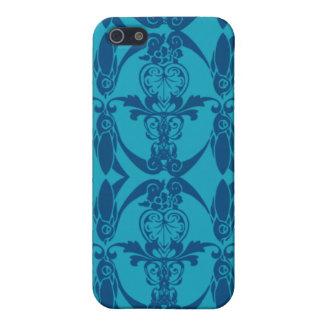 damast för blått 4G iPhone 5 Cover
