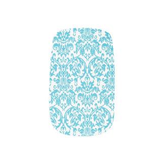 Damastast barock mönsterslynaaqua) nail art