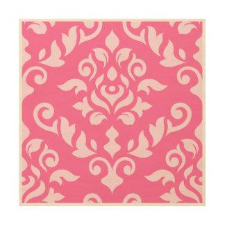 Damastast barock stor designLt på Dk-rosor Trätavla