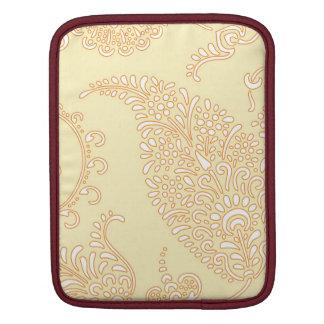 Damastast blommönster för vintagepaisley tapet iPad sleeve