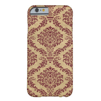 Damastast Burgundy Parisian Moods Barely There iPhone 6 Skal