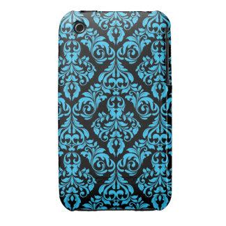 Damastast fodral för blått & för designblackberry iPhone 3 Case-Mate case