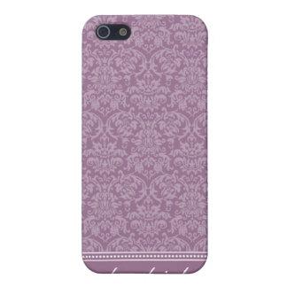 Damastast fodral för mönsteriPhone 4 (lavendel) iPhone 5 Hud