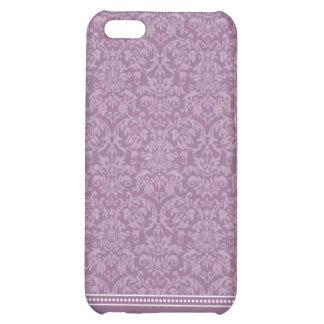 Damastast fodral för mönsteriPhone 4 (lavendel) iPhone 5C Mobil Skydd