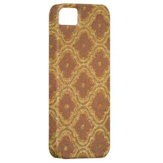 Damastast Fodral-Kompis för vintageguldbrunt iPhone 5 Case-Mate Skal