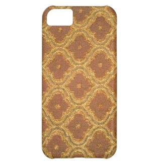 Damastast Fodral-Kompis för vintageguldbrunt iPhone 5C Fodral