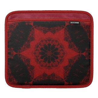 Damastast formgivare för Crimson vintage - ipad iPad Sleeve