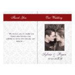 Damastast hopfällbara fotobröllopsprogram