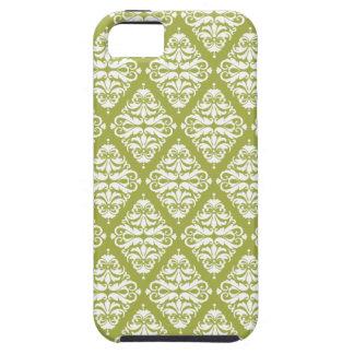 Damastast iphone case gröna /white iPhone 5 cases