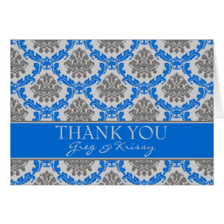 Damastast kungliga blåtttackkortkort OBS kort