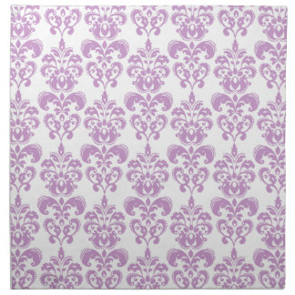 Damastast mönster 2 för flickaktigt purpurfärgad v tygservett