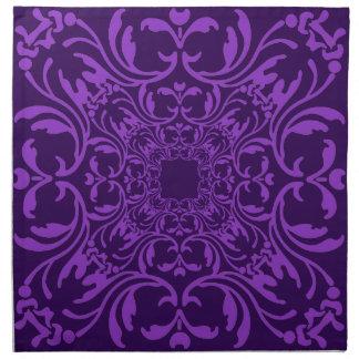 Damastast mönster 2 för purpurfärgad violett vinta tygservett