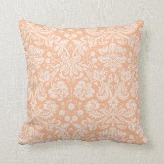 Damastast mönster för aprikosfärg kudde