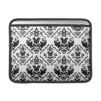 Damastast mönster för elegant Retro svart vit MacBook Air Sleeve