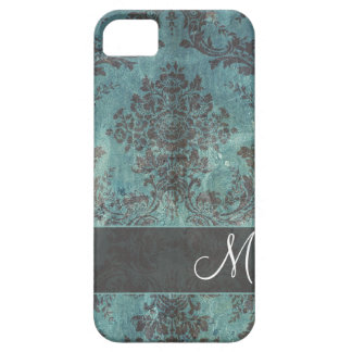 damastast mönster för grunge med monogramen iPhone 5 cover