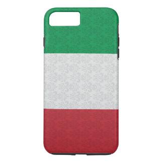 Damastast mönster för italiensk flagga