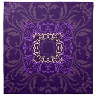 Damastast mönster för purpurfärgad violett vintage tygservett
