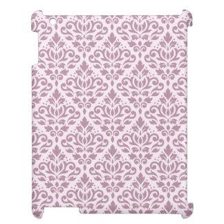 Damastast mönsterMauve för rulla på rosor iPad Mobil Fodral