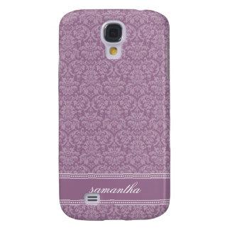 Damastast Pern (lavendel) Galaxy S4 Fodral