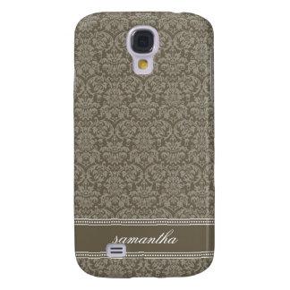 Damastast Pern (mockan) Galaxy S4 Fodral