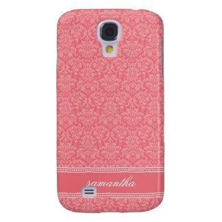 Damastast Pern (rosor) Galaxy S4 Fodral