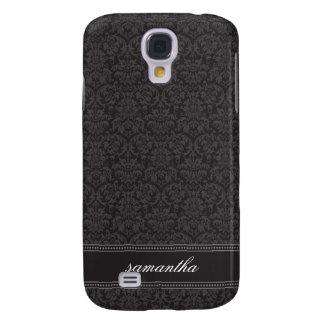 Damastast Pern (svarten) Galaxy S4 Fodral