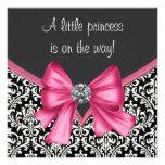 Damastast Princess baby shower för elegant Anpassningsbara Inbjudningskort