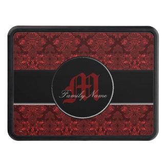 Damastast rött för klassiker (monogramen) dragkroksskydd
