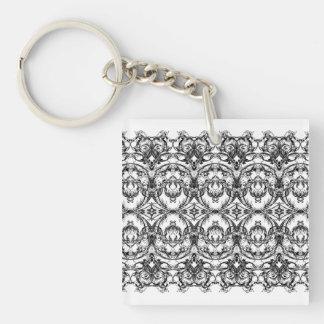 Damastast stil Keychain för Victorian