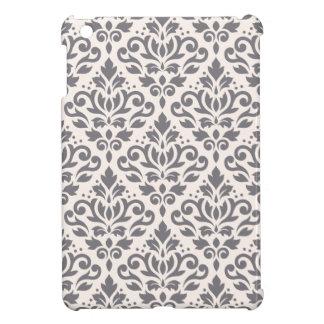 Damastast stora mönstergrå färg för rulla på kräm iPad mini mobil skydd